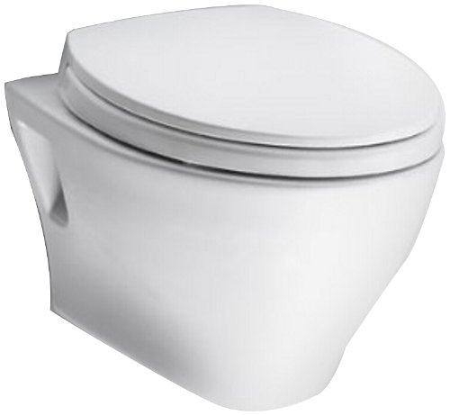 TOTO CT418F#01 Aquia Wall-Hung Dual-Flush Toilet Bowl, Cotton White