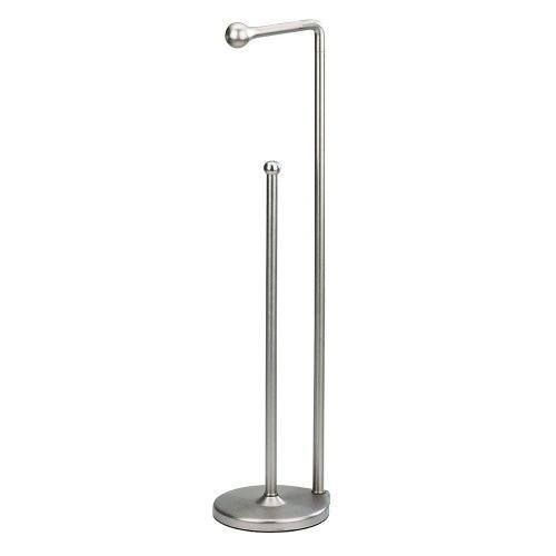 Umbra Teardrop Toilet Paper Stand with Reserve, Brushed Nickel
