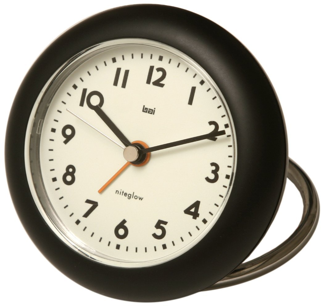 Bai Rondo Travel Alarm Clock, Black