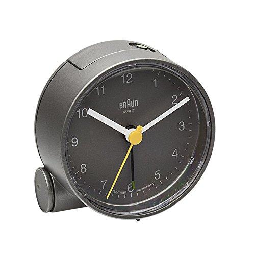 Braun Round Analog Travel Alarm Clock