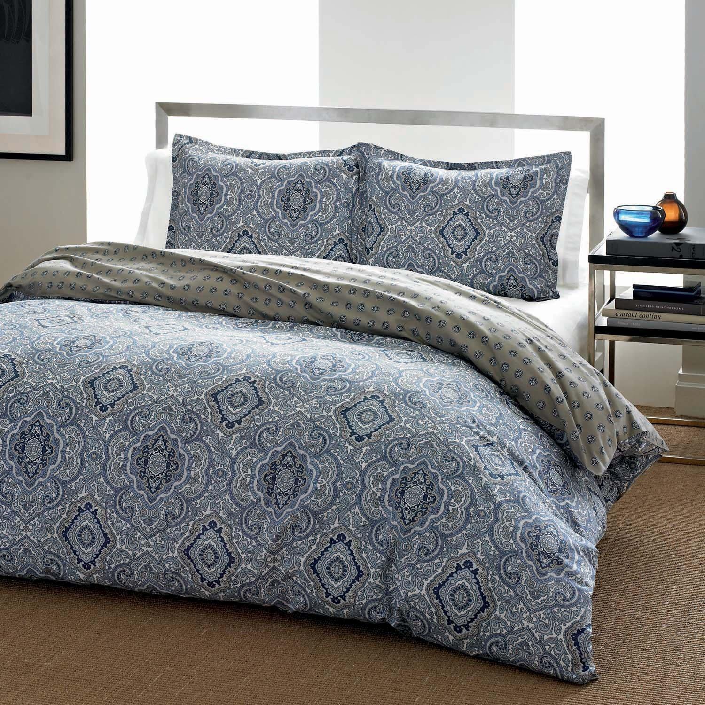 City Scene Milan Blue Comforter Set, King