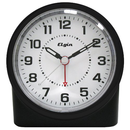 Elgin 3675E Battery-Operated Analog Alarm Clock