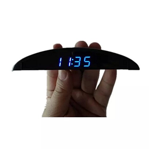 Goliton Ultra-thin Car Onboard Electronic Clock Voltmeter Voltage Meter Thermometer Temperature Meter