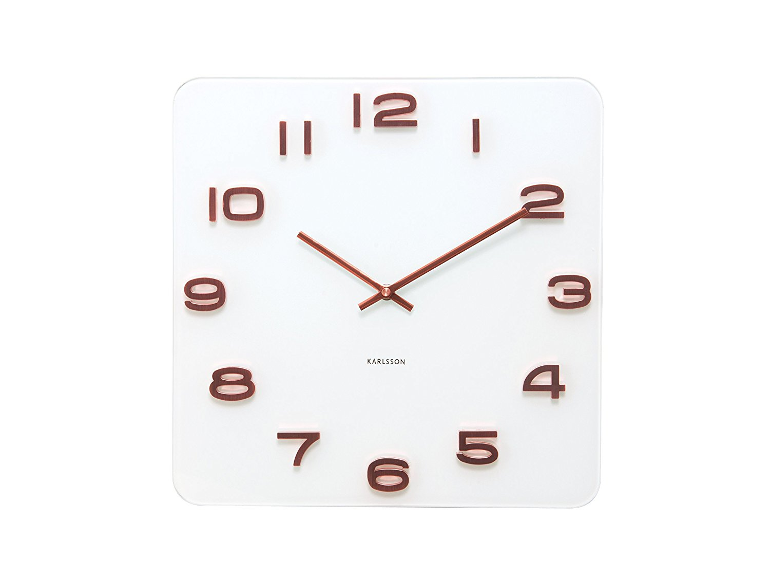 Karlsson Wall Clock Vintage With Copper Numbers White