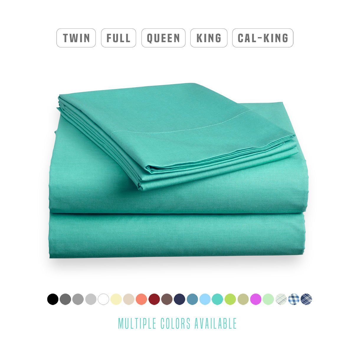 Luxe Bedding Bed Sheet Set - Brushed Microfiber 2000 Bedding - Wrinkle, Fade, Stain Resistant - Hypoallergenic - 4 Piece - Unique Christmas Presents for family (Queen, Turquoise)