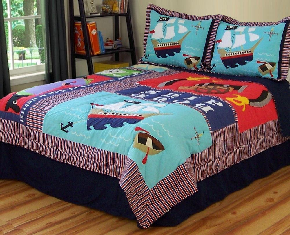 PEM America Pirates Treasure Quilt Set - Full/Queen
