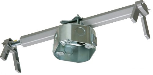Arlington FBRS4200R-1 Steel Fan and Fixture Mounting Box with Adjustable Bracket, For Existing Construction, 16-24-inches, Metallic, 1-Pack