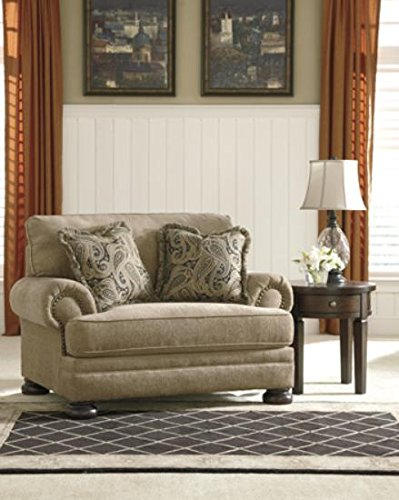 Ashley Furniture Signature Design - Keereel Chair and a Half - Plush Upholstery - Traditional - Sand