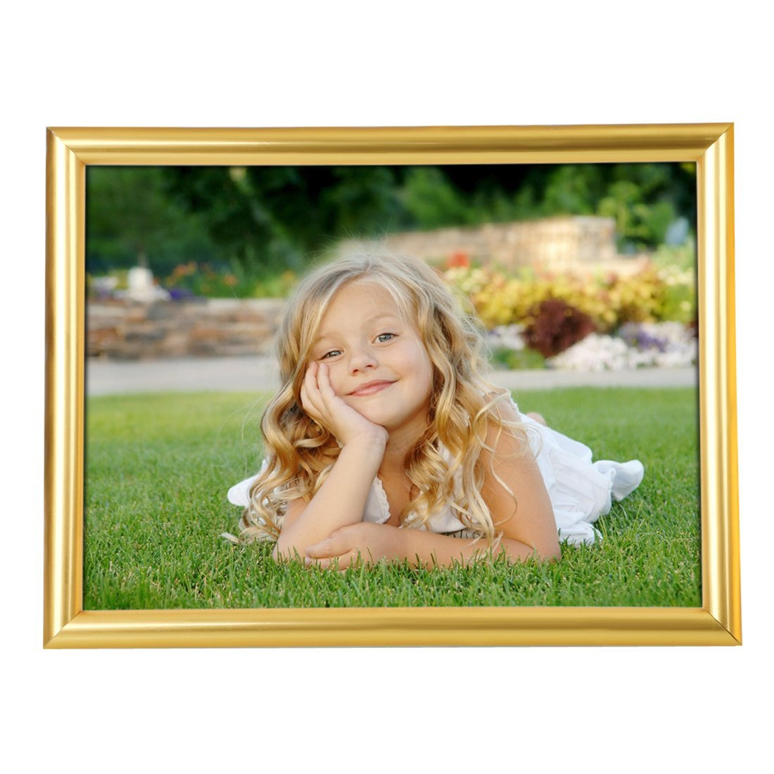 BOJIN 4x6 Inch Picture Frames Plastic Table Top Photo Frame 10x15 CM- Gold