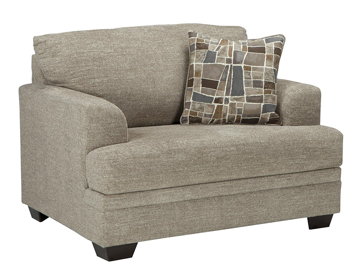 """Benchcraft Barrish Collection 4850123 51"""" Chair and a Half with Fabric Upholstery Tri-Block Feet Removable Seat Cushions and Traditional Style in"""