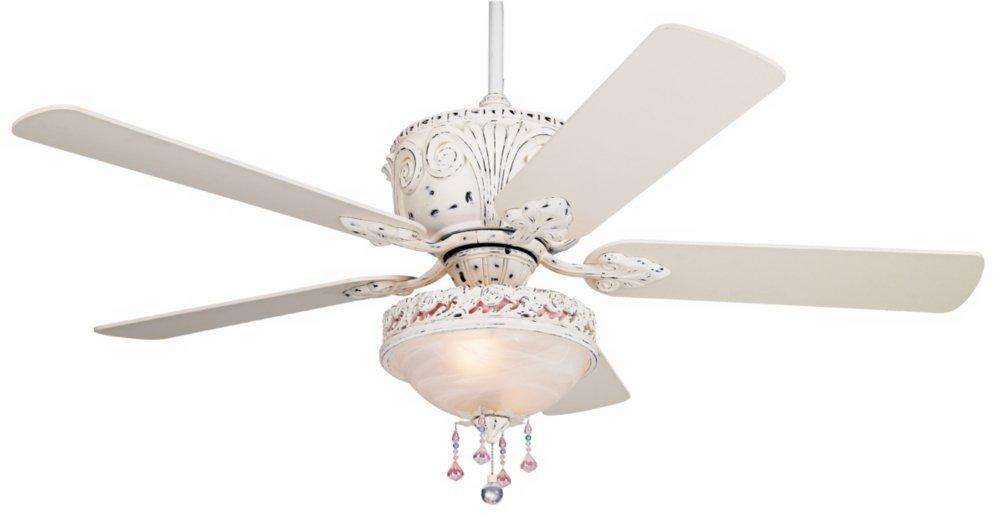 Casa Deville Antique White Light Kit Ceiling Fan