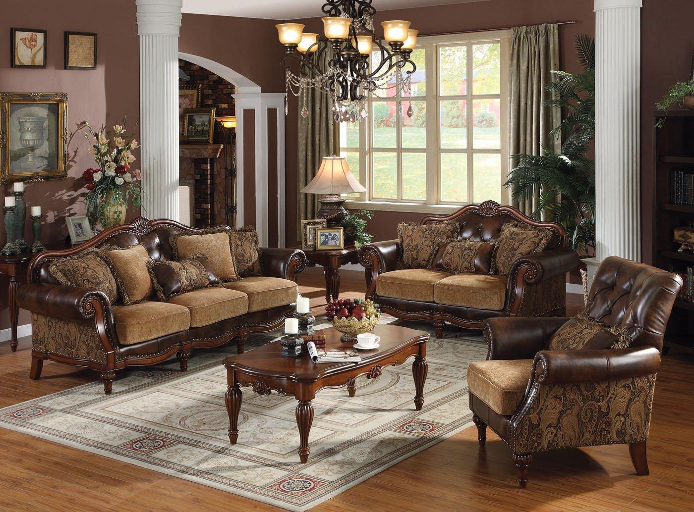 Dreena Collection 3pc Set: Sofa, Loveseat & Chair