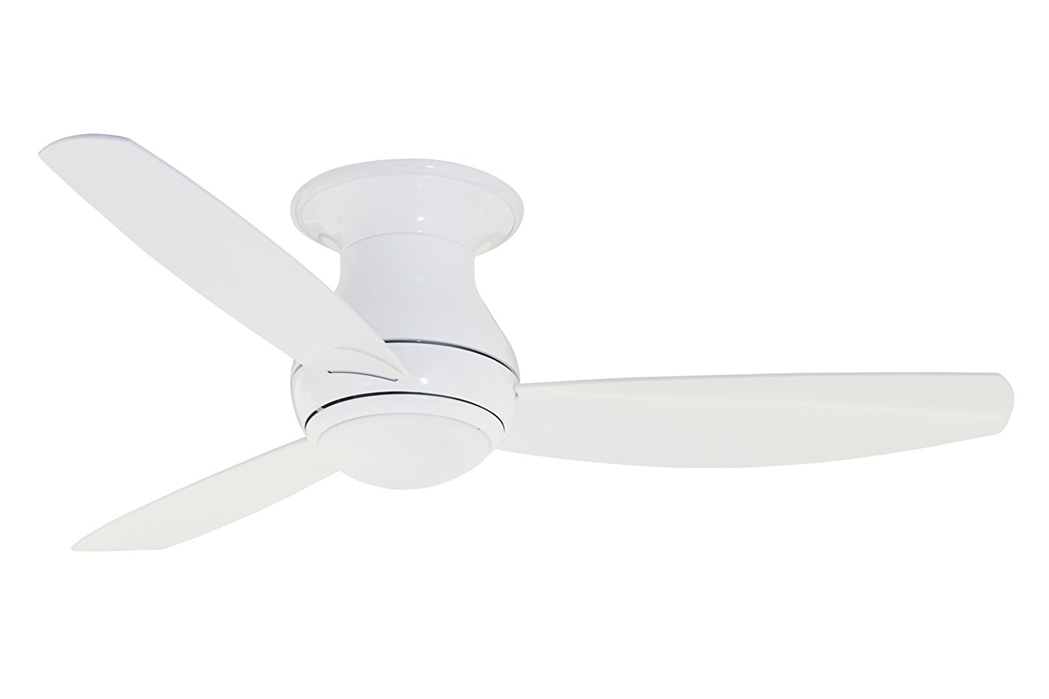 Emerson Ceiling Fans CF152WW Curva Sky 52-Inch Modern Low Profile/Hugger Indoor Outdoor Ceiling Fan With Light And Remote, Wet Rated, Appliance White Finish