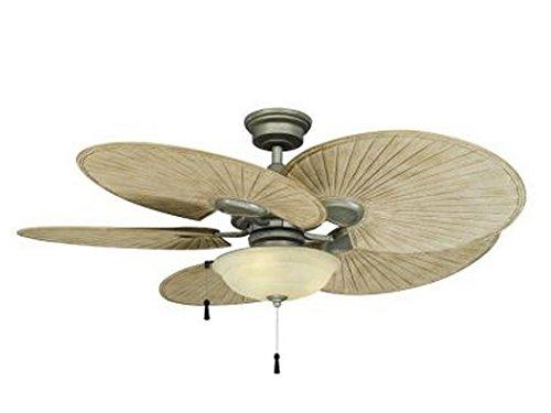 Hampton Bay 48 in. Outdoor Havana Cambridge Silver Ceiling Fan