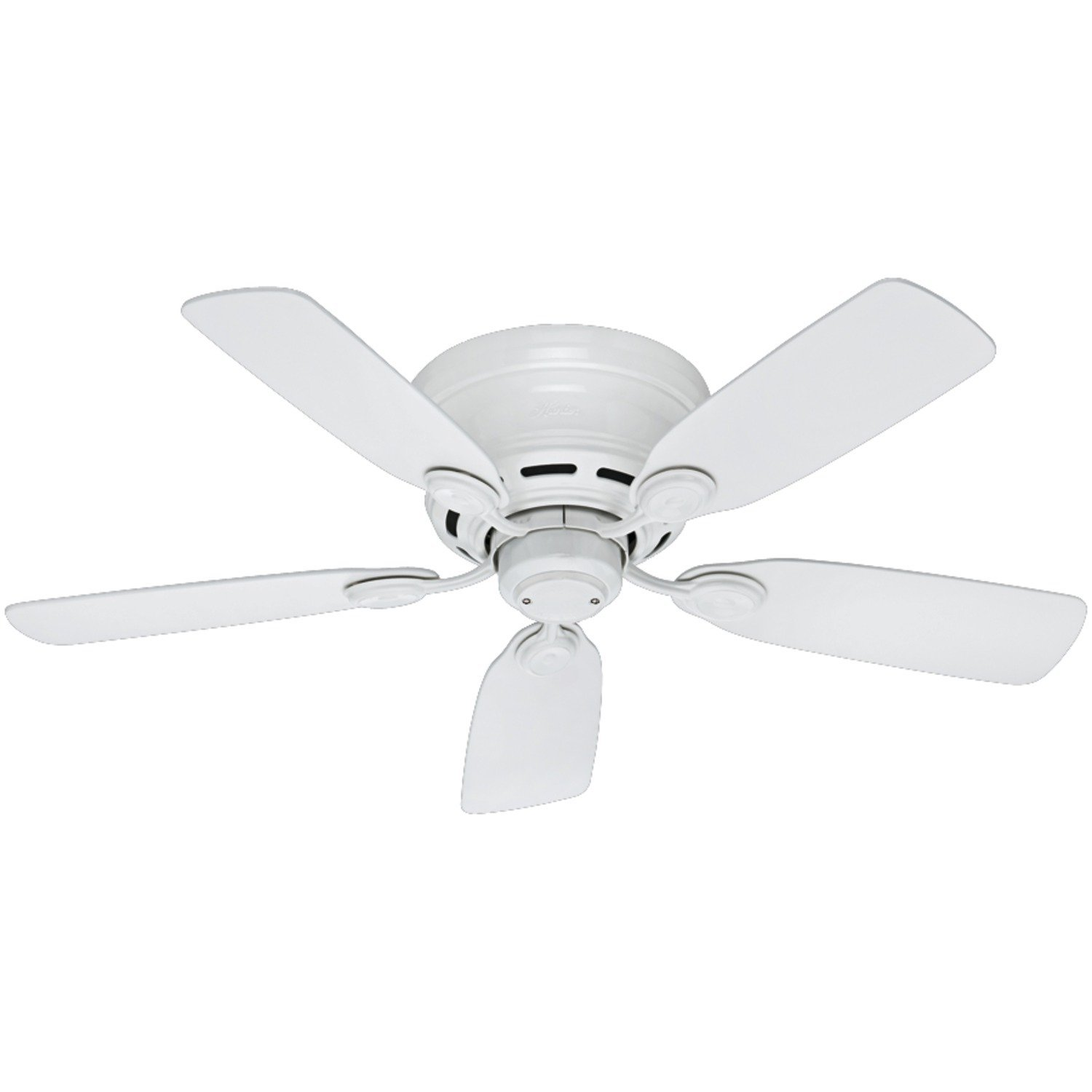 Hunter 51059 Low Profile IV 5-Blade Ceiling Fan, 42-Inch, White