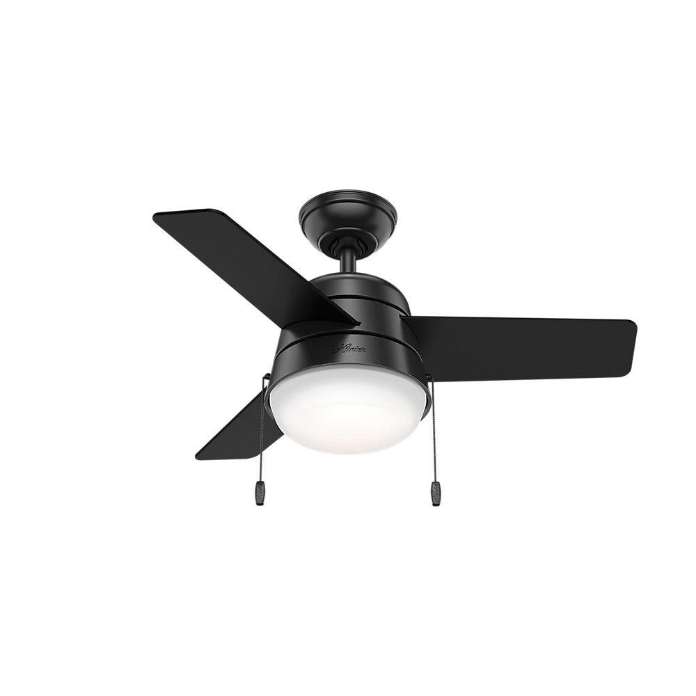 """Hunter Fan Company 59302 Aker Ceiling Fan Hunter Light, 36"""", Matte Black"""