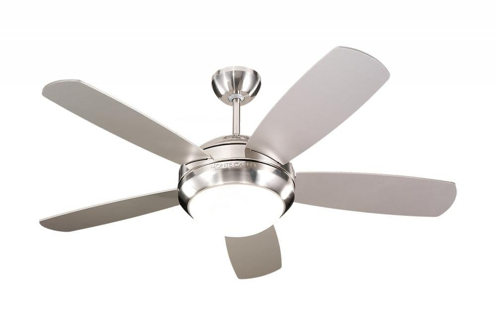"Monte Carlo 5DI44BSD, Discus II, 44"" Ceiling Fan, Brushed Steel"