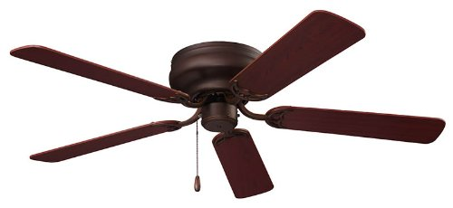 NuTone CFH52RB Hugger Series Energy Star Qualified Dual Blades Ceiling Fan, 52-Inch, Oil Rubbed Bronze