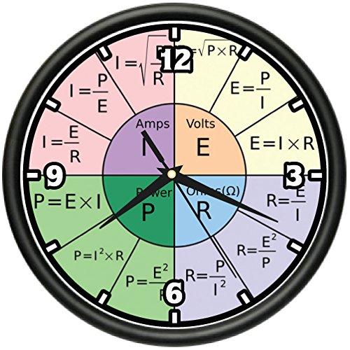 OHMS LAW Wall Clock math class school teacher geek nerd gift