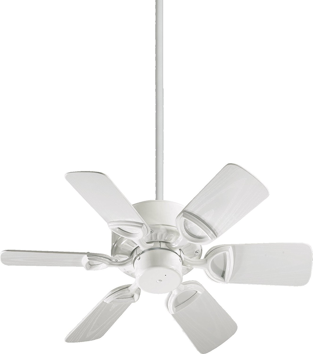 Quorum International 143306-6 Estate 6-Blade Patio Ceiling Fan with White ABS Blades, 30-Inch, Gloss White Finish