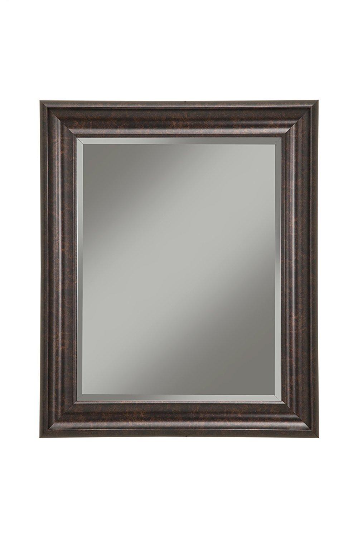 """Sandberg Furniture 14217 Oil Rubbed Bronze Wall Mirror Oil Rubbed Bronze,36 X 30"""""""