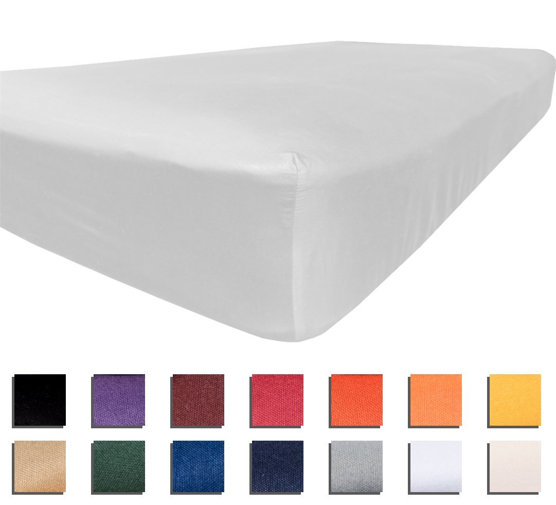 University College Colors - Mix and Match - Dorm Bedding Separates - Microfiber (Twin XL Fitted Sheet - White)