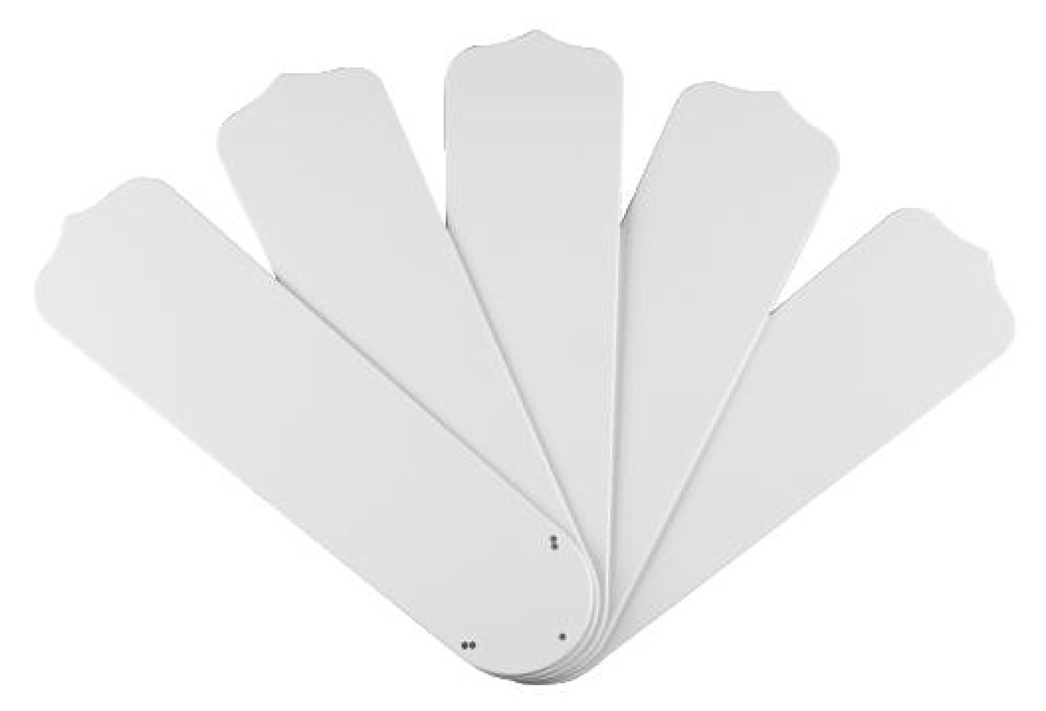 Wellington 7741400 52-Inch White Outdoor Replacement Fan Blades, Five-Pack