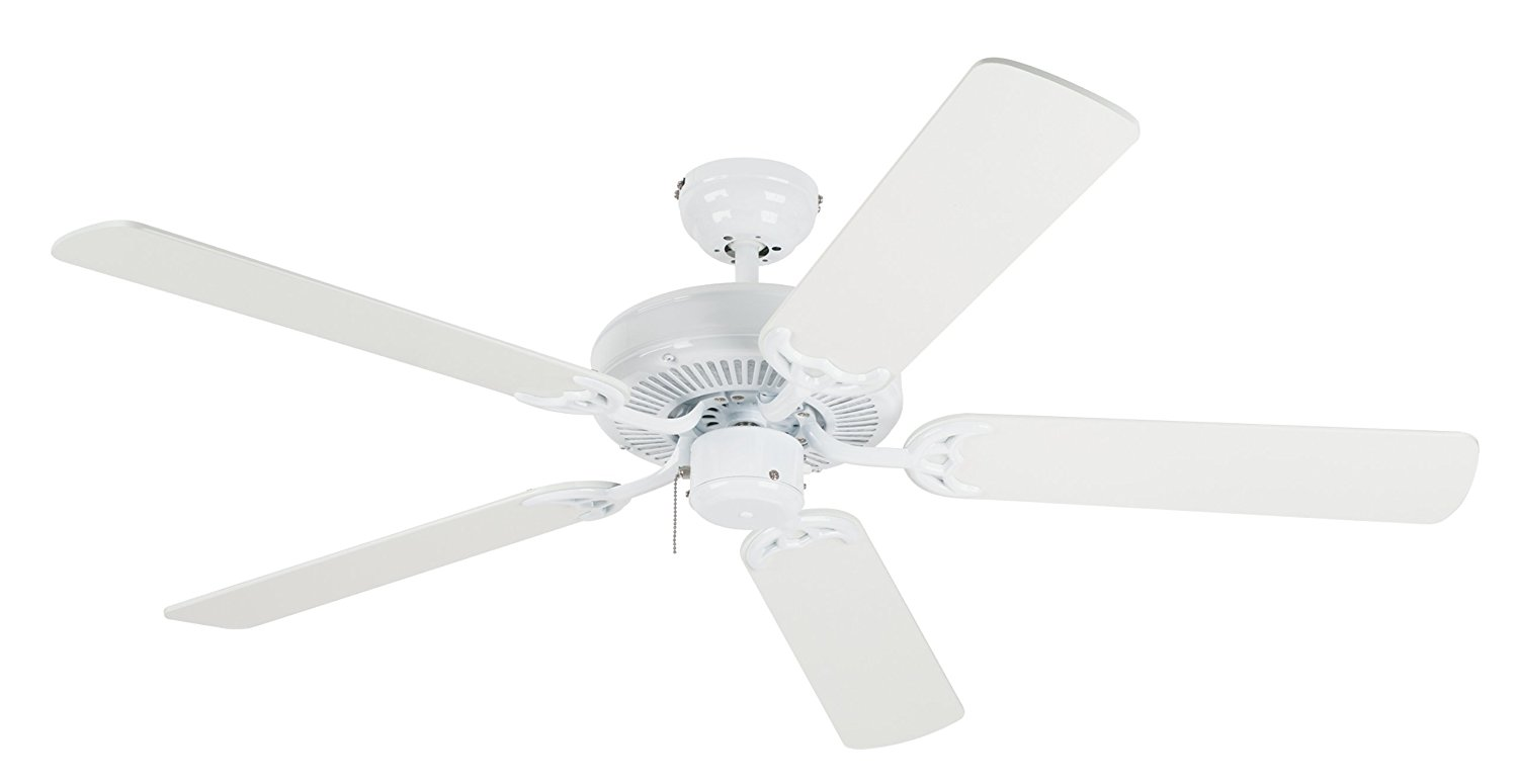 Westinghouse 7802400 Contractor's Choice 52-Inch Five-Blade Indoor Ceiling Fan, White with White Blades