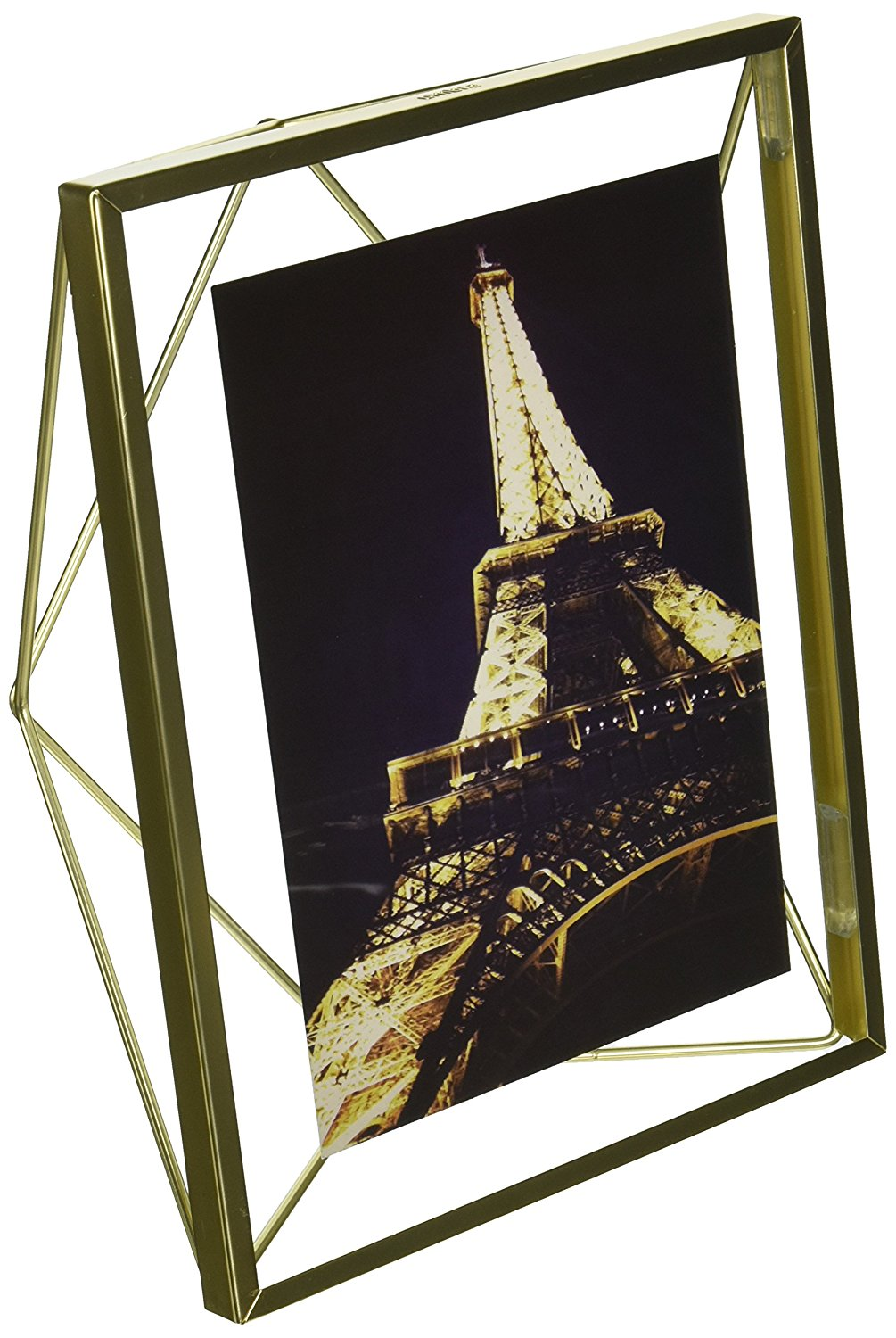 Umbra Prisma Picture Frame, 4 by 6-Inch, Matte Brass