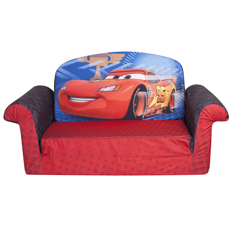 Marshmallow Furniture, Children's 2 in 1 Flip Open Foam Sofa, Disney/Pixar Disney Pixar Cars 2, by Spin Master