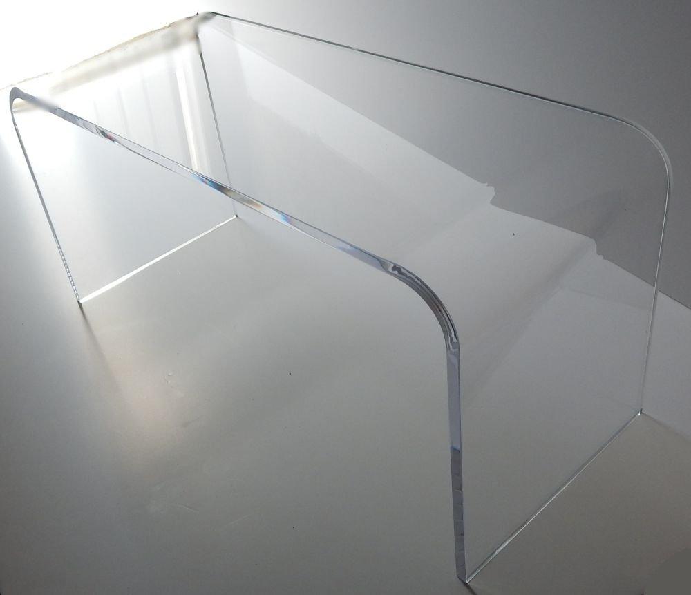 "Acrylic Coffee Waterfall Table Lucite 44"" Long X 16 X 16"" High"
