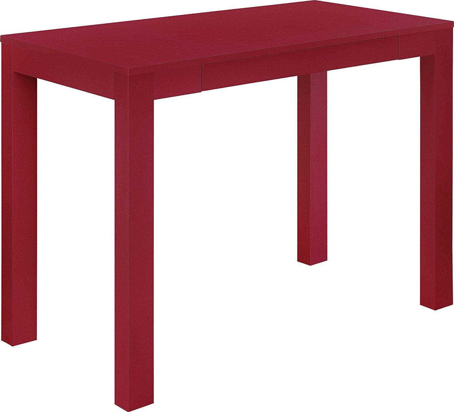 Altra Delilah Parsons Desk With Drawer Red The Painted Console Table