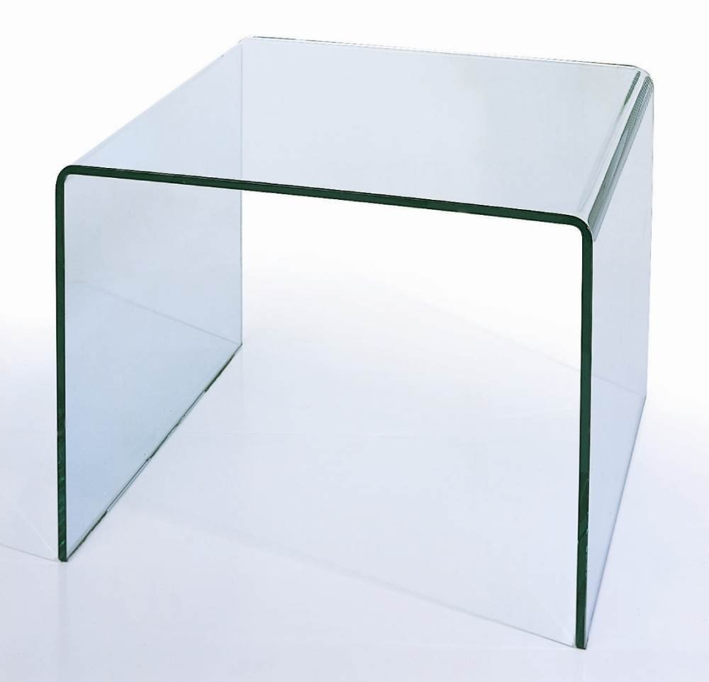 BH Design Waterfall Bent Glass End Table