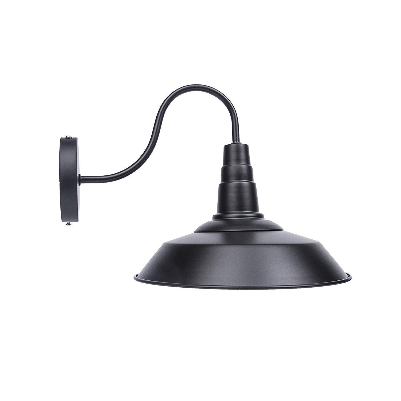 "Bjour B100-02 Bell 1 Light 13"" Indoor Outdoor Classic Gooseneck Wall Sconce Metal Semi-gloss Finish"