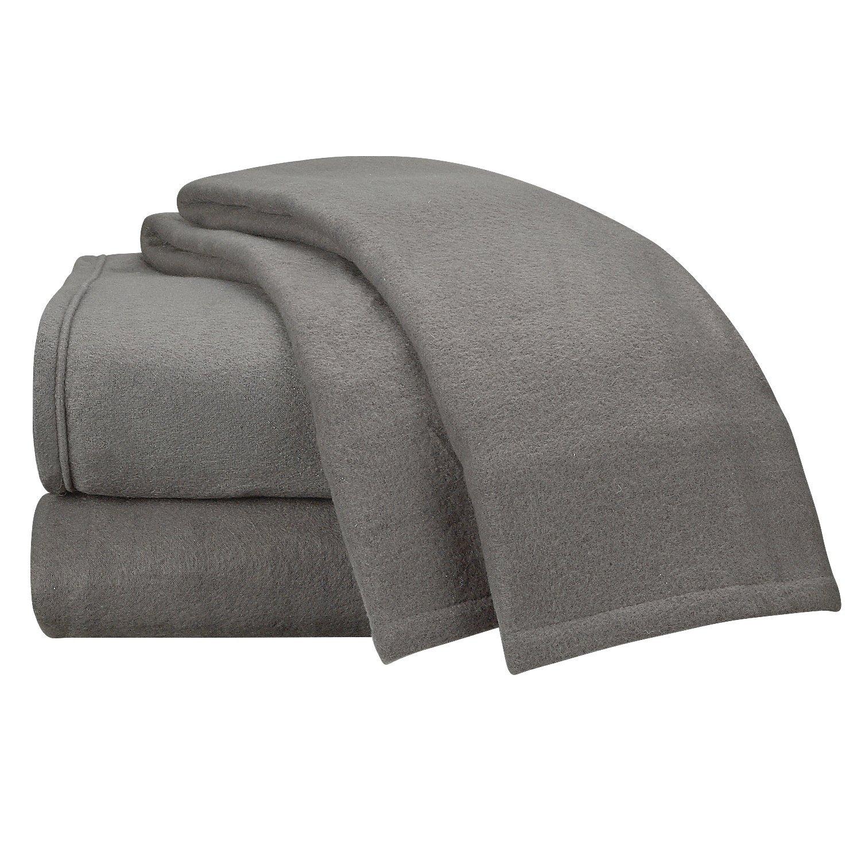 Clara Clark Micro Polar Fleece Bed Sheet Set, Queen Size, Charcoal Gray