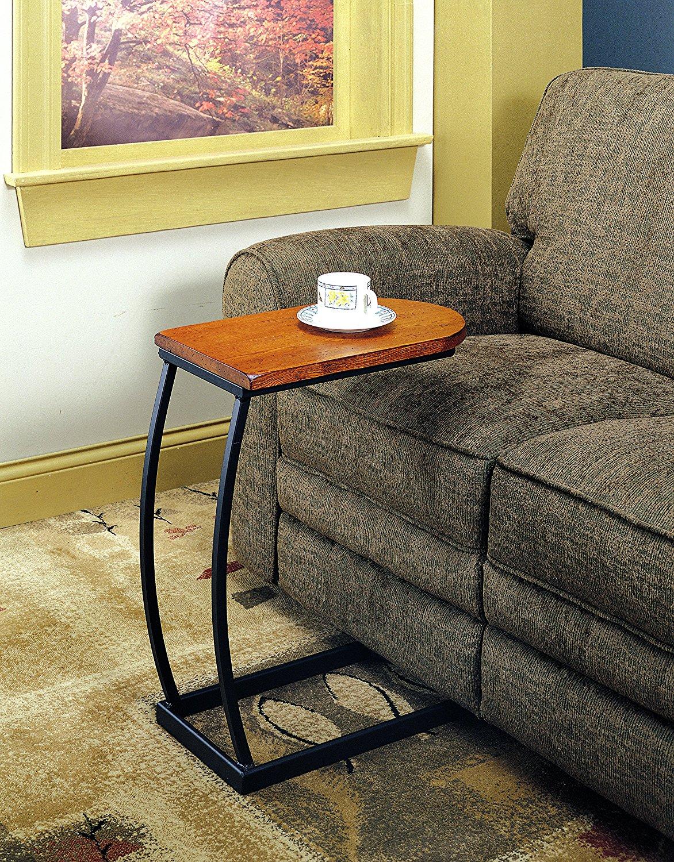 Coaster 900279 Sofa Table, Distressed Oak and Black Metal