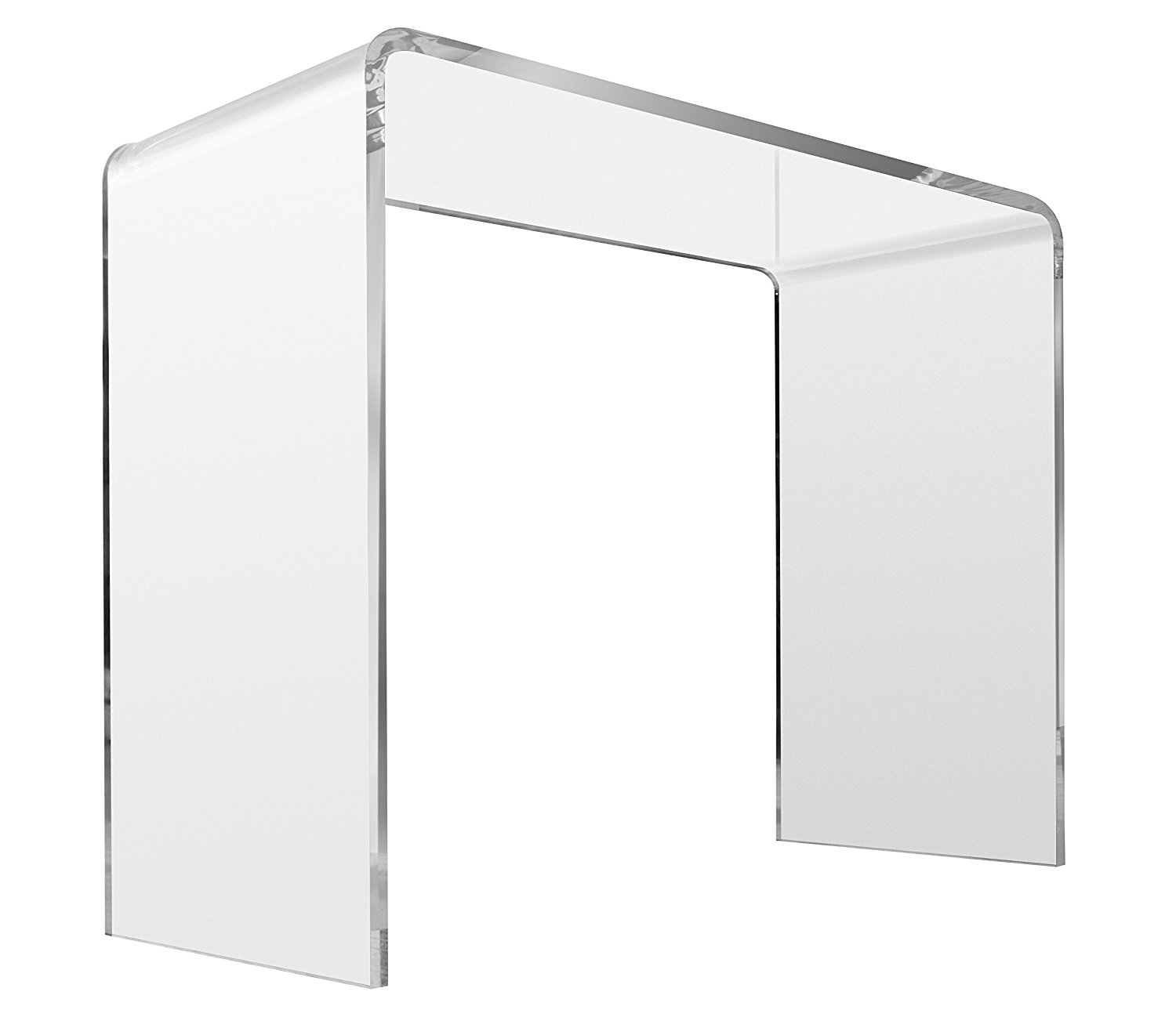 """Crystal Clear Acrylic Console Table - Sofa, Entryway, Couch or Hall Tables - Goes Well with Ghost Chair - Handcrafted of Premium Polished Lucite - by Unum - 38""""L x 15""""D x 29""""H - 3/4"""" Thick"""