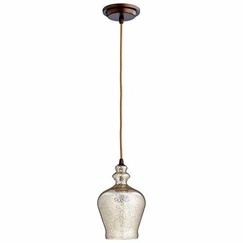 Cyan Lighting 06482 Calista - One Light Pendant, Oiled Bronze Finish with Mercury Glass