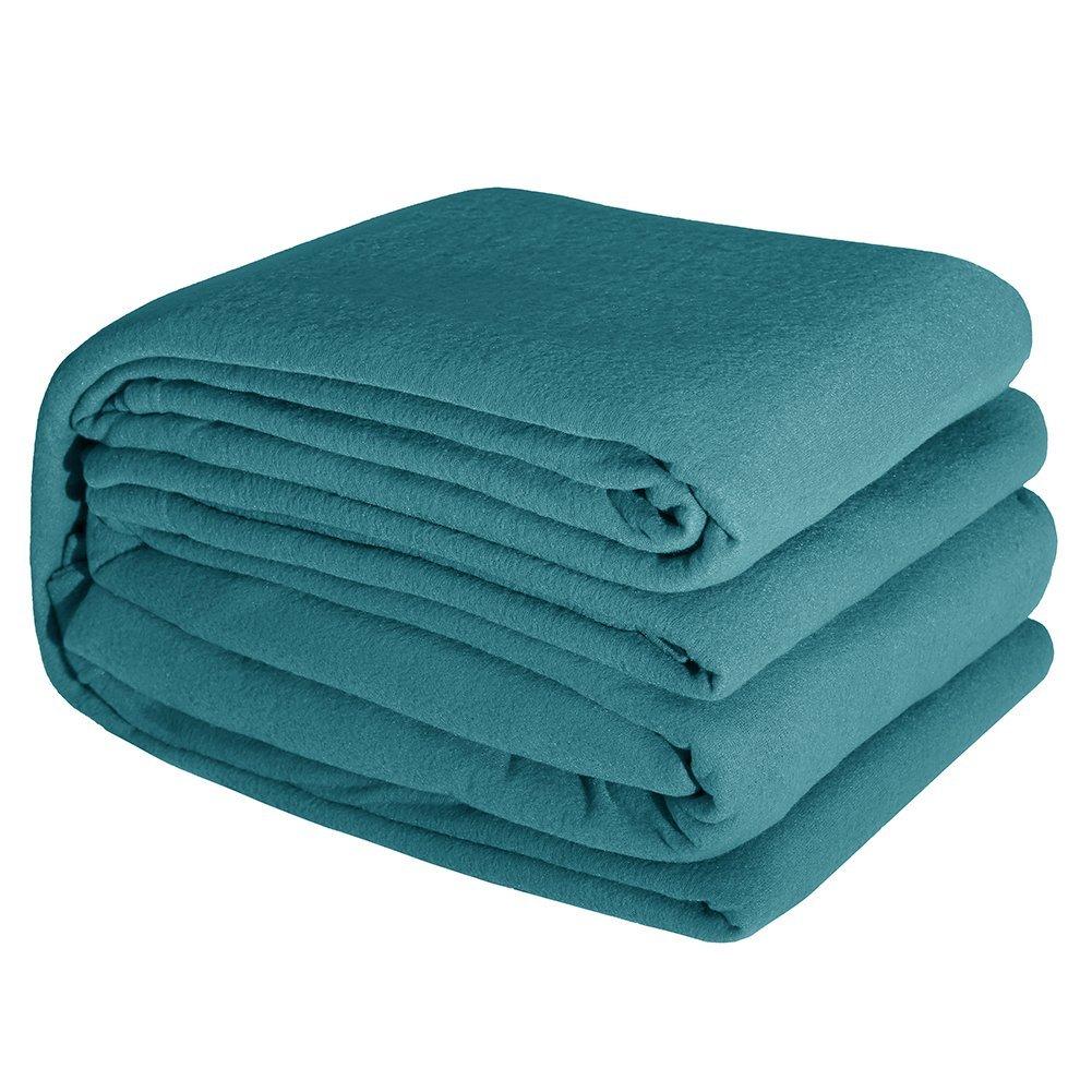 DOZZZ CLEARANCE SALES 4 Pieces Fleece Sheet Set Soft Cozy All Seasons Sheet Set Plush Microfiber Bedding Sheet Set, Wrinkle Fade Stain Resistant Sheet Set, Queen Size, Teal