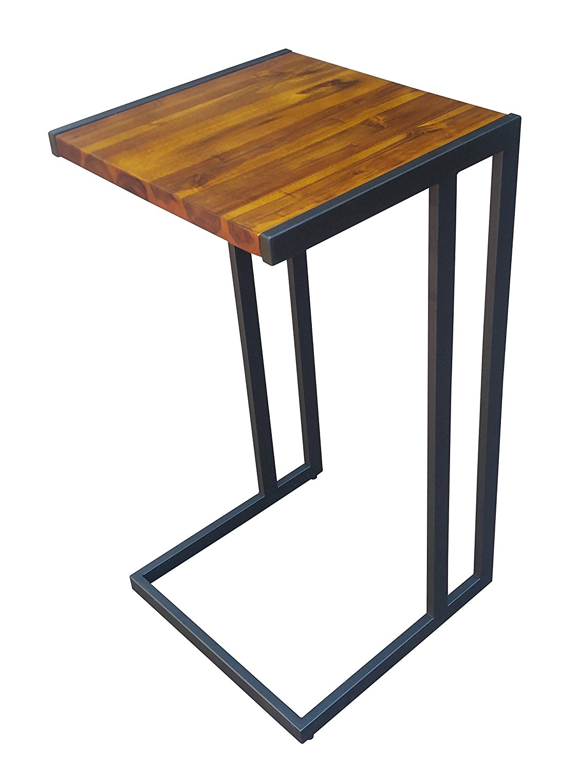 Design 59 inc Acacia Hardwood C Table / End Table / Laptop Stand, NO ASSEMBLY REQUIRED