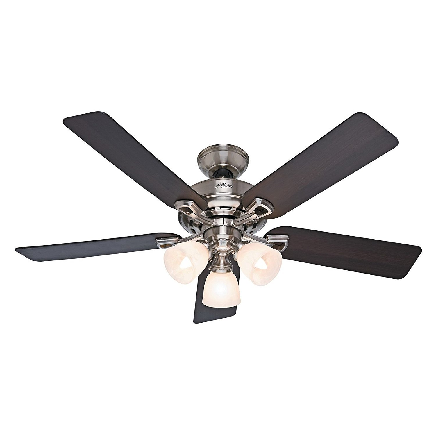"""Hunter Fan 52"""" Ceiling Fan, Brushed Nickel - Light Kit and Remote Control Included (Certified Refurbished)"""