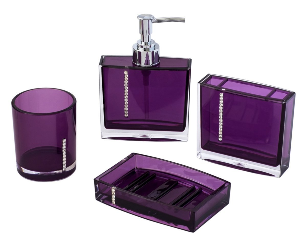 Purple Bathroom Accessories Sets Design Cool Ideas For Home