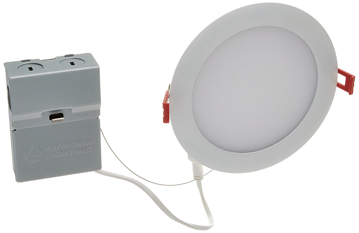 """Lithonia Lighting 13.6W Ultra Thin 6"""" Dimmable Recessed Ceiling Light, 4000K, White"""