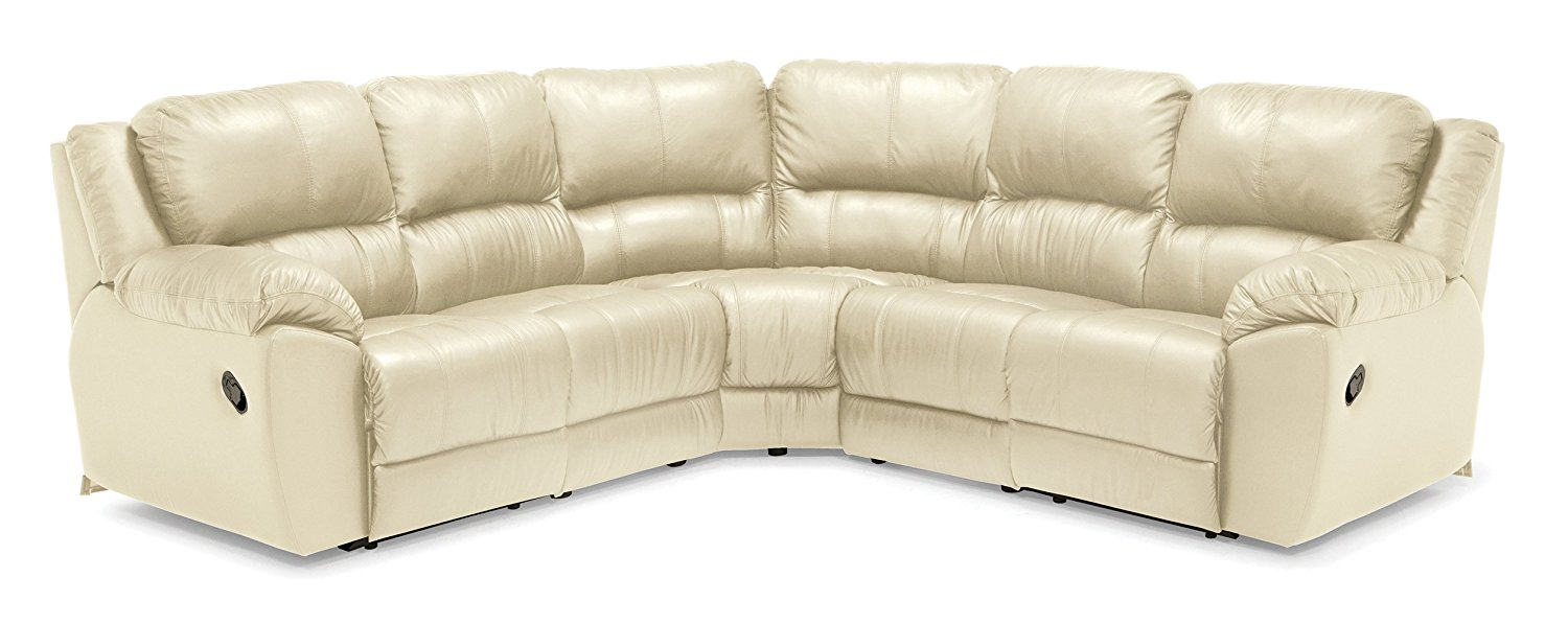 Montgomery 41174 5-Seat Curved Corner Reclining Sectional, Tulsa II Bisque