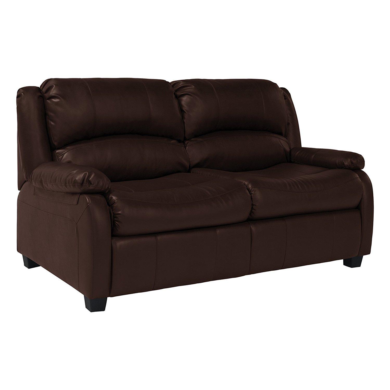 "RecPro Charles 65"" RV Sofa Sleeper w/ Hide A Bed Loveseat Mahogany RV Furniture"