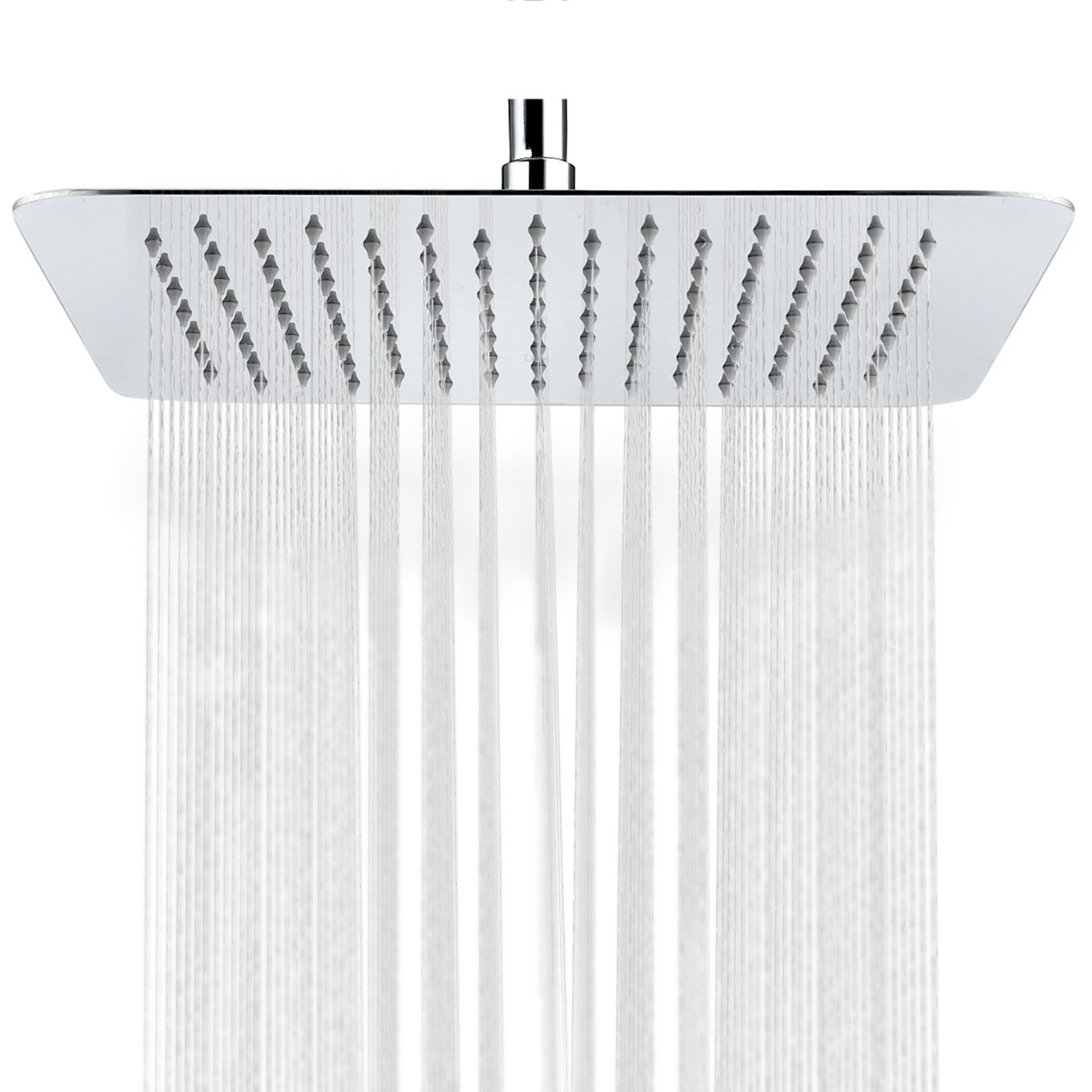 SR SUN RISE SRSH-F5043 Bathroom Luxury Rain Mixer Shower Combo Set Wall Mounted Rainfall Shower Head System Polished Chrome Finish(only for a new remodel)