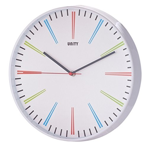 Unity Siddal Silent Sweep Non-Ticking Modern Wall Clock, 12-inch