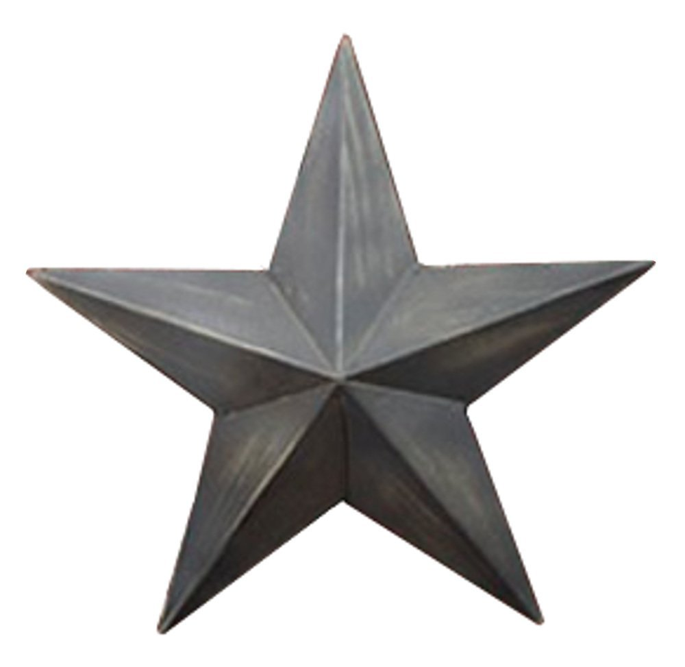 """Country House Vintage Style Indoor Hanging Metal Barn Star (9"""")"""